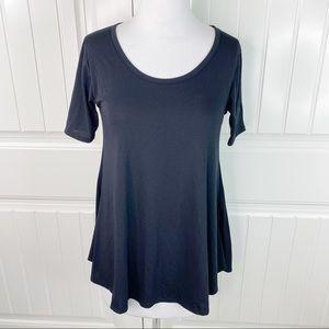 LuLaRoe Short Sleeve Perfect T Tunic Top Tee XXS